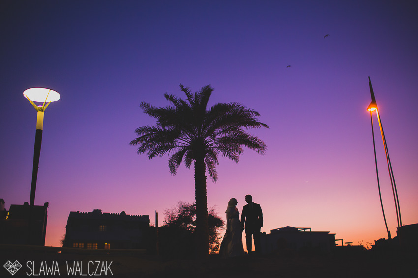 sunset photo from a wedding in Muscat beach Oman
