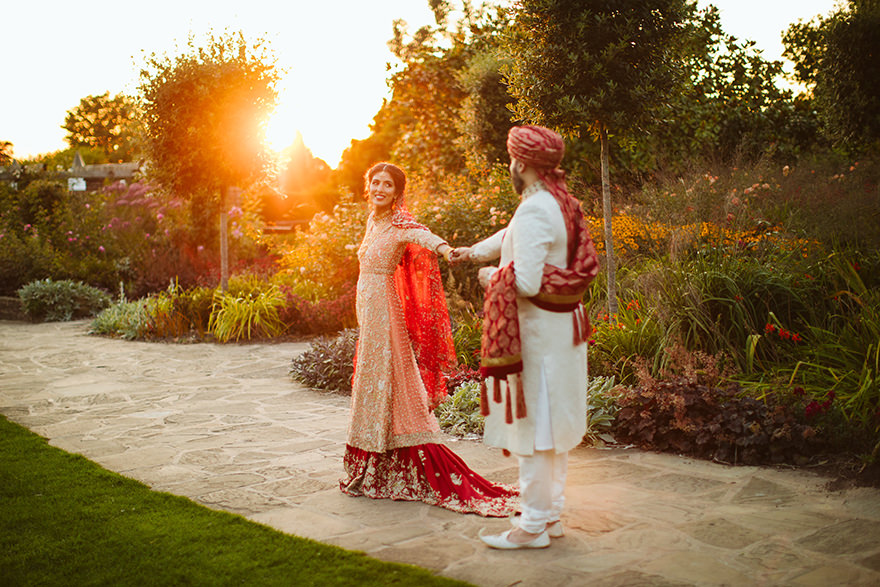 indian and asian wedding photography in London Hampstead Heath park