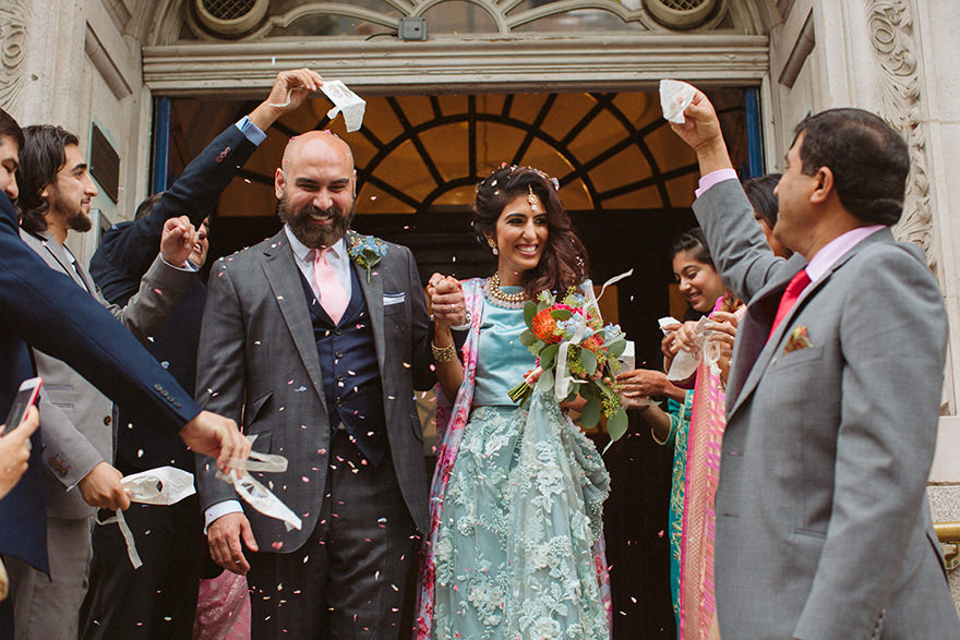 asian wedding at the Old Chelsea town Hall
