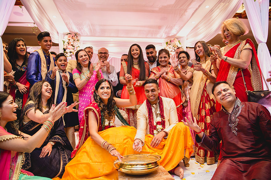 documentary photography from games at an Indian Wedding in London