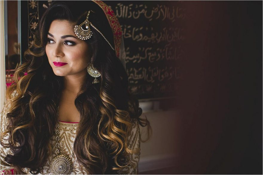 portrait of an asian bride taken during a wedding in london