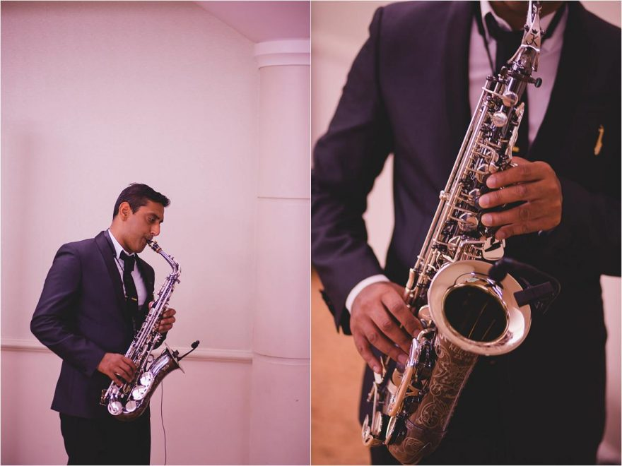saxophonist at an elegant indian wedding