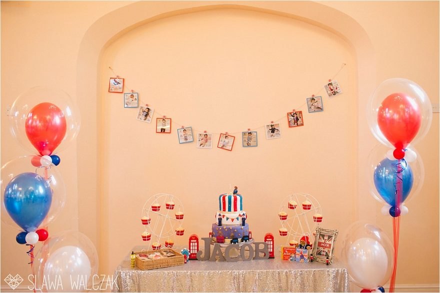London themed 1st birthday party