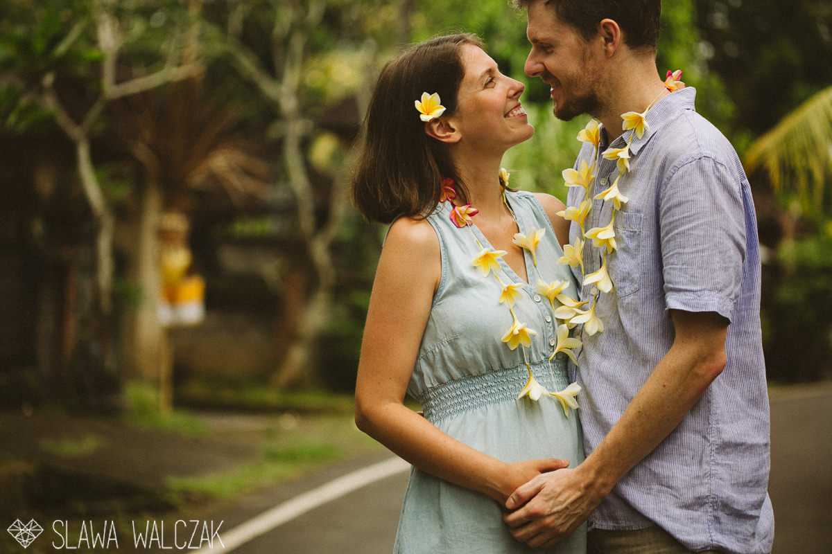 photo from a destination engagement, maternity session in Ubud Bali