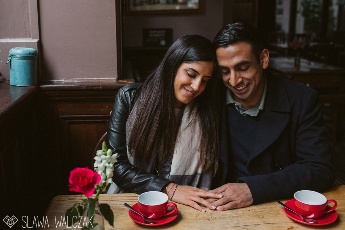 natural relaxed pub Annika & Anand - London Indian Pre-Wedding Shoot