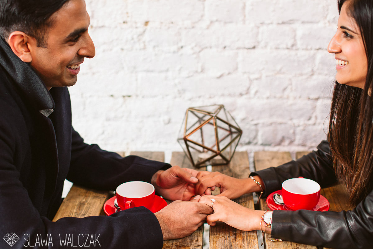 natural and relaxed indian engagement photography session London