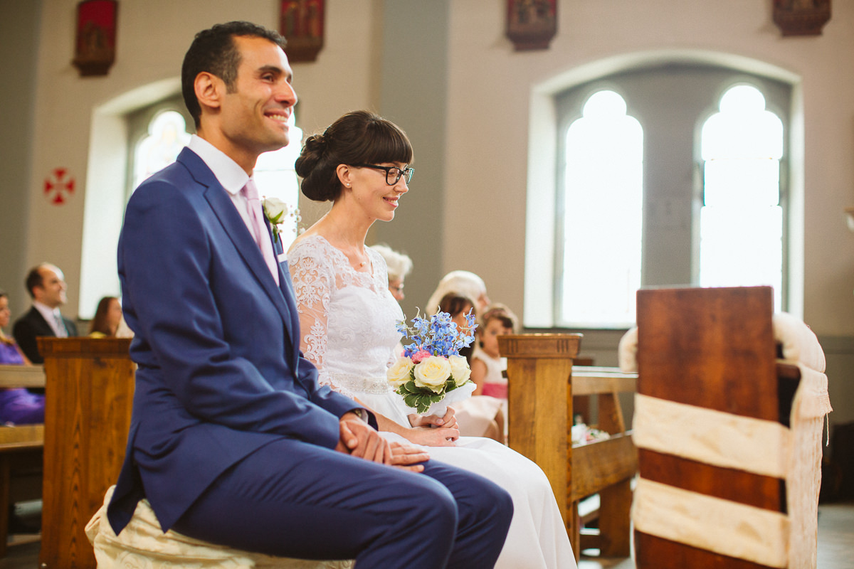 wedding at the transfiguration church in kensal rise