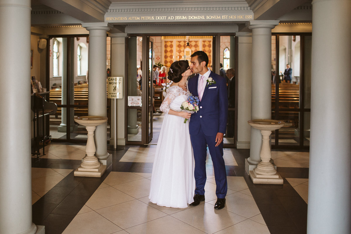 documentary wedding photography at church in Kensal Rise in London