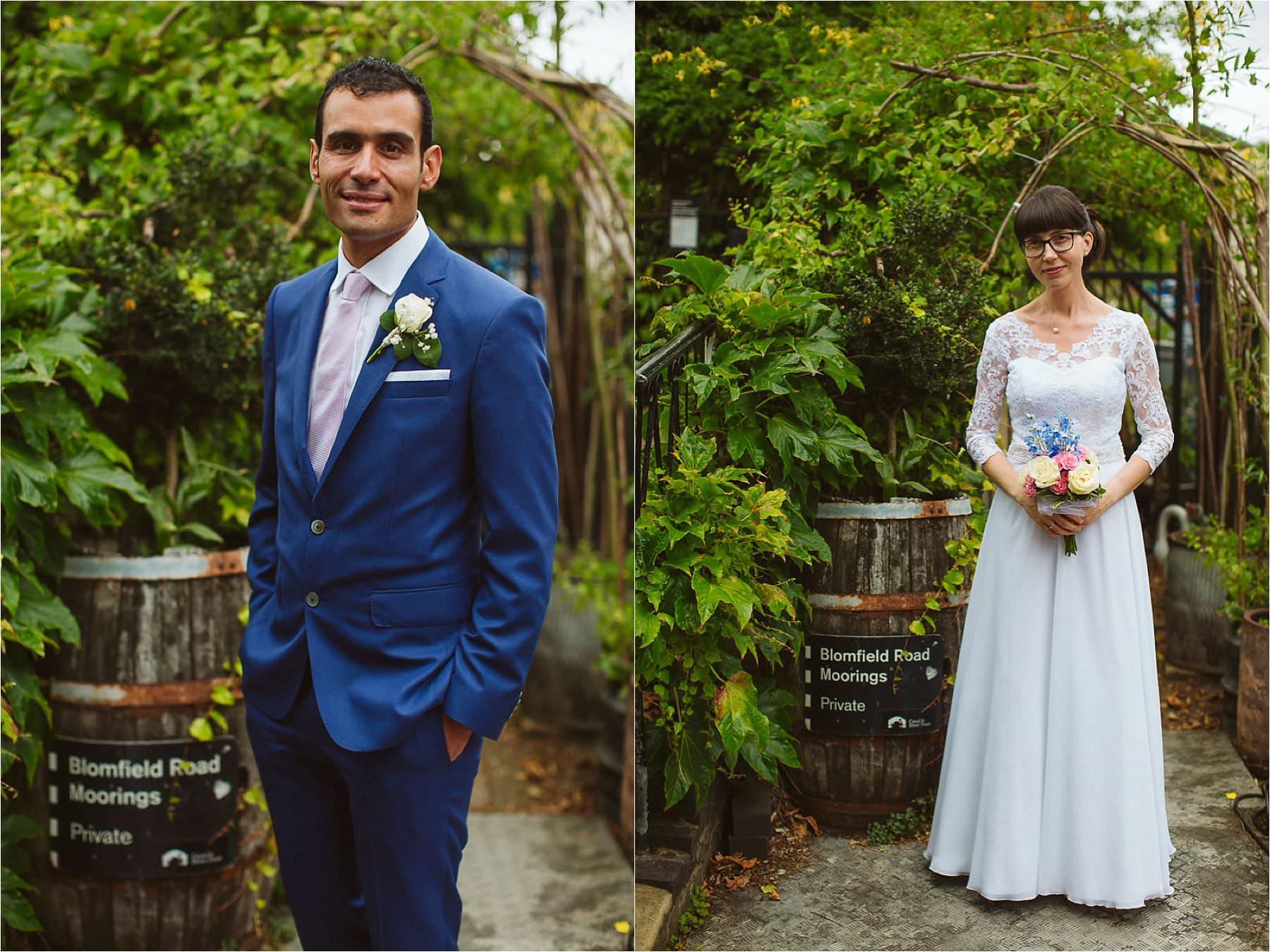couple portraits at DIY wedding at Little Venice