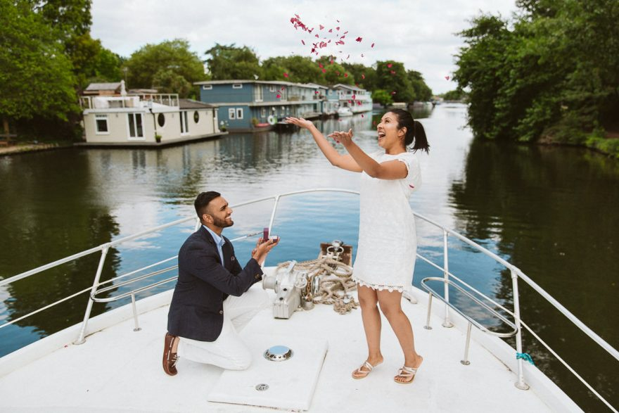 London Surprise Proposal Yacht River Thames