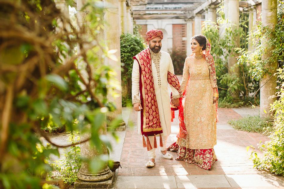 Hampstead Heath Pergola Asian Wedding Photoshoot