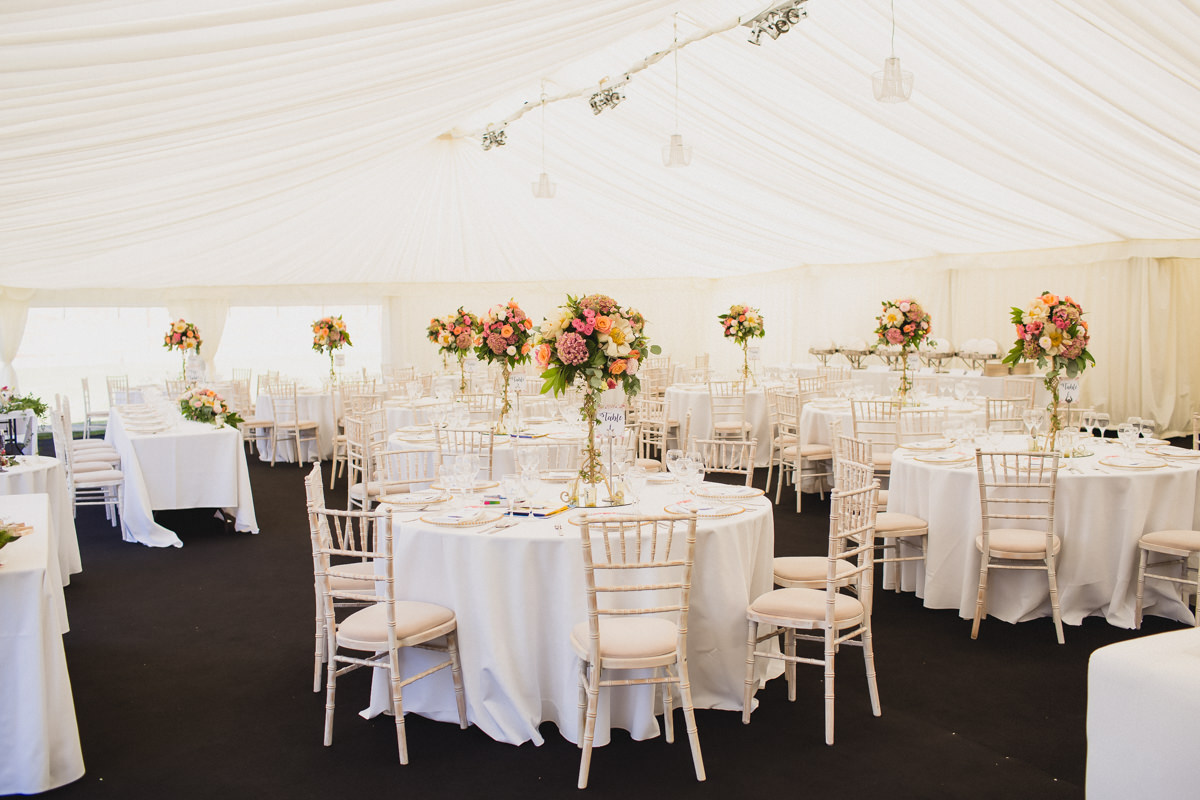 Marquee at Hexton Manor in Hertfordshire