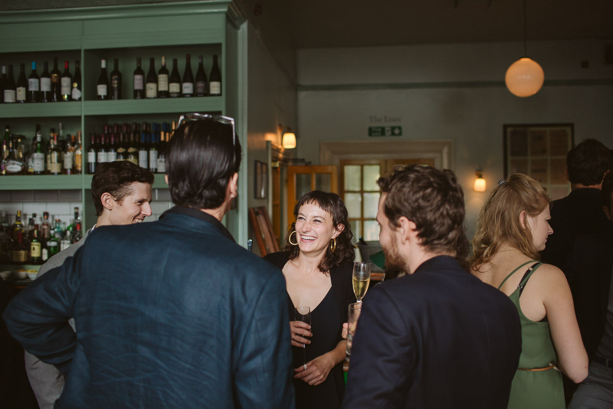 interior shots of the Drpaers Arms Pub during an Islington Weddinf