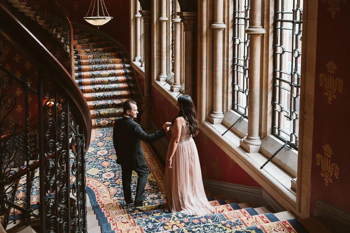 wedding photo session St Pancras Renaissance Hotel