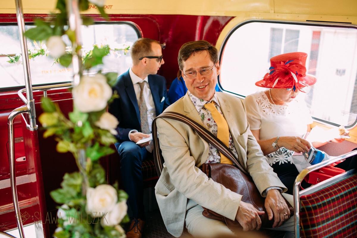 wedding photohraphy at a London Routemaster bus
