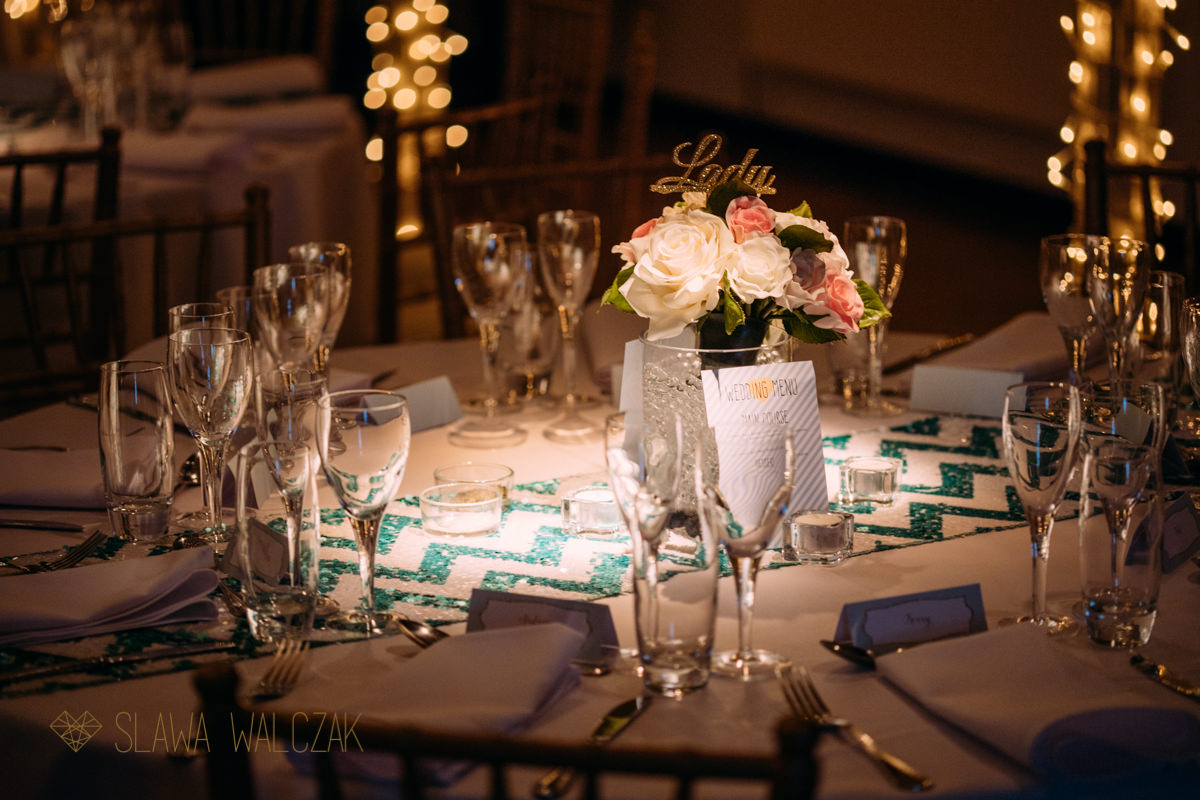 table wedding decoration at the Amadeus in London