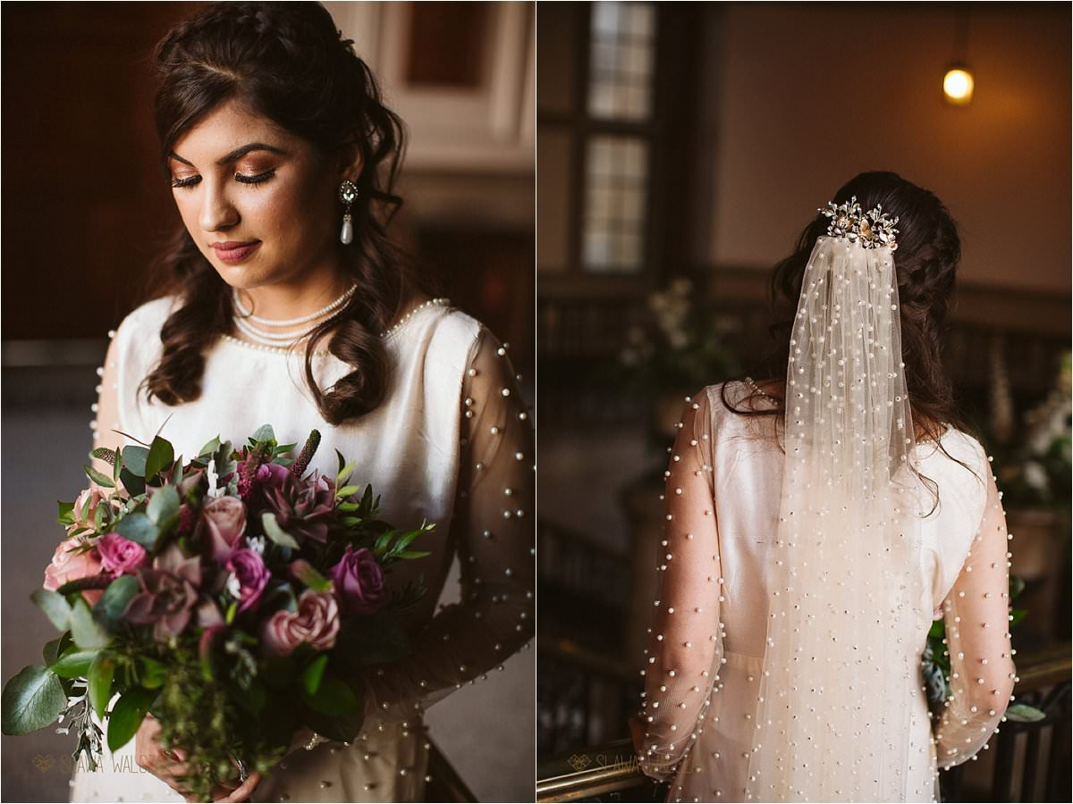 bridal potraits taken at a civil ceremony at Ealing Town Hall in London