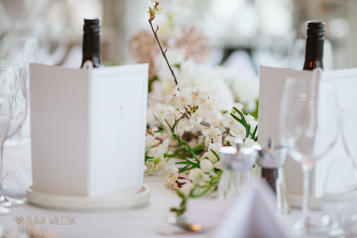 wedding table decor at a Compleat Angler in Marlow
