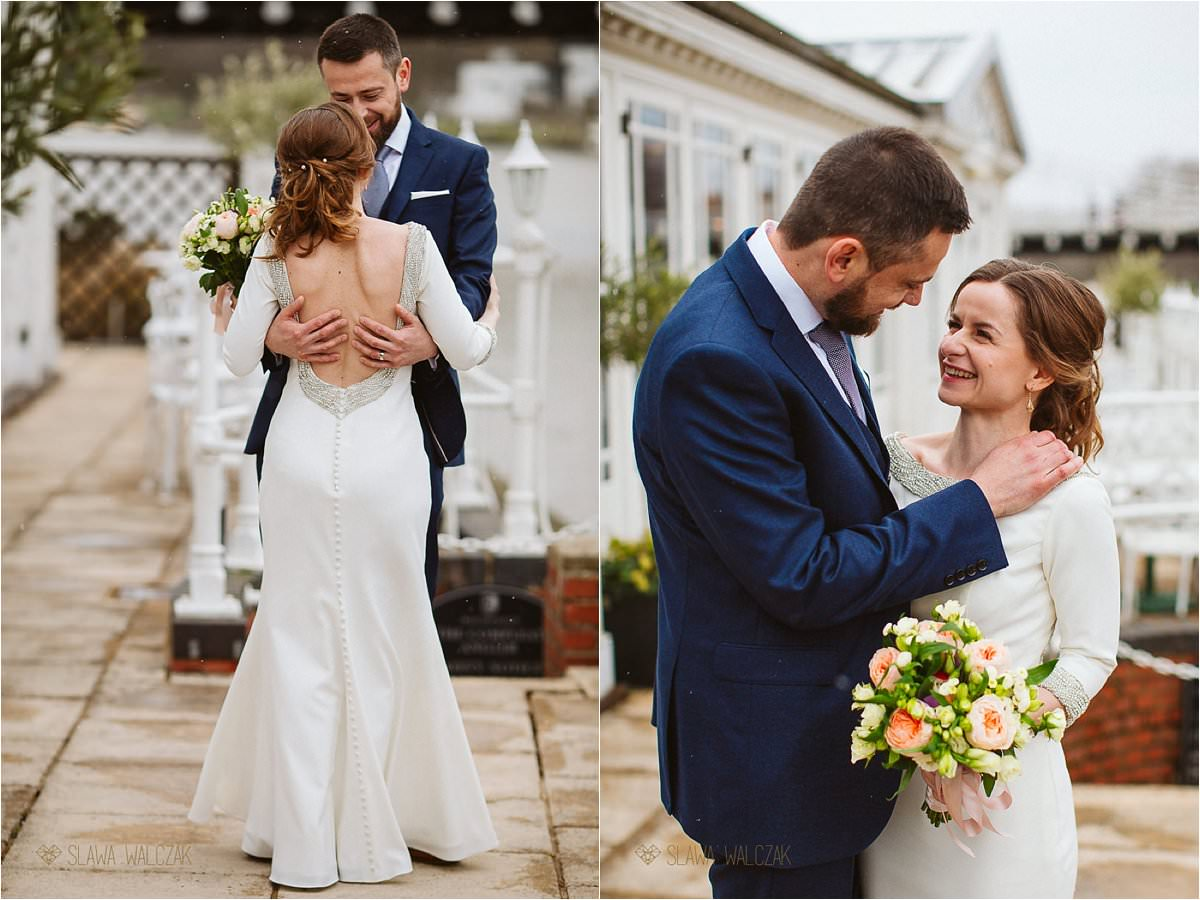 romantic couple portraits at an intimate wedding in Marlow Buckinghamshire
