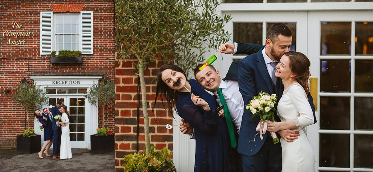 Compleat angler in Murlow documentary wedding photography