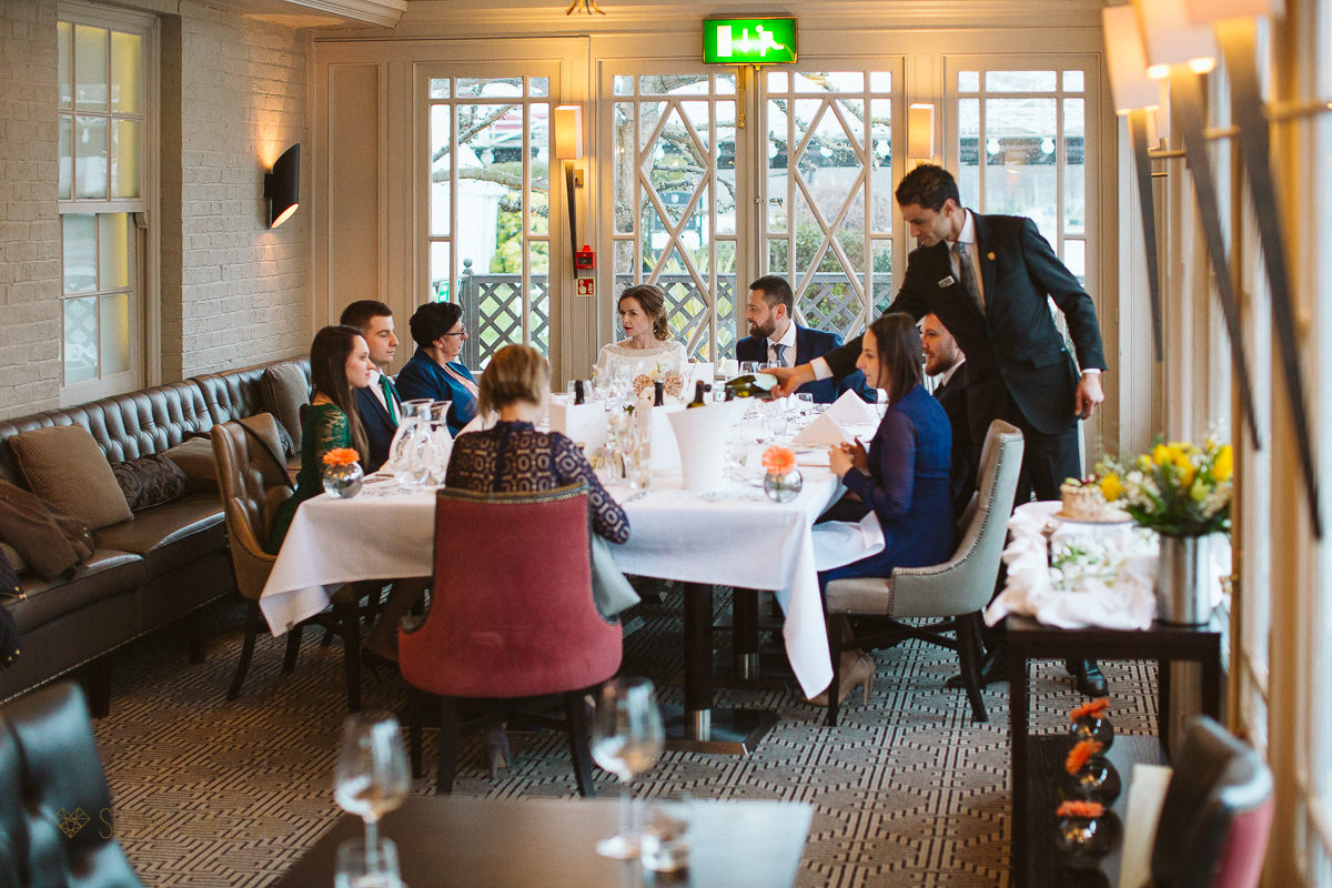 Wedding Breakfast at Compleat Angler in Marlow