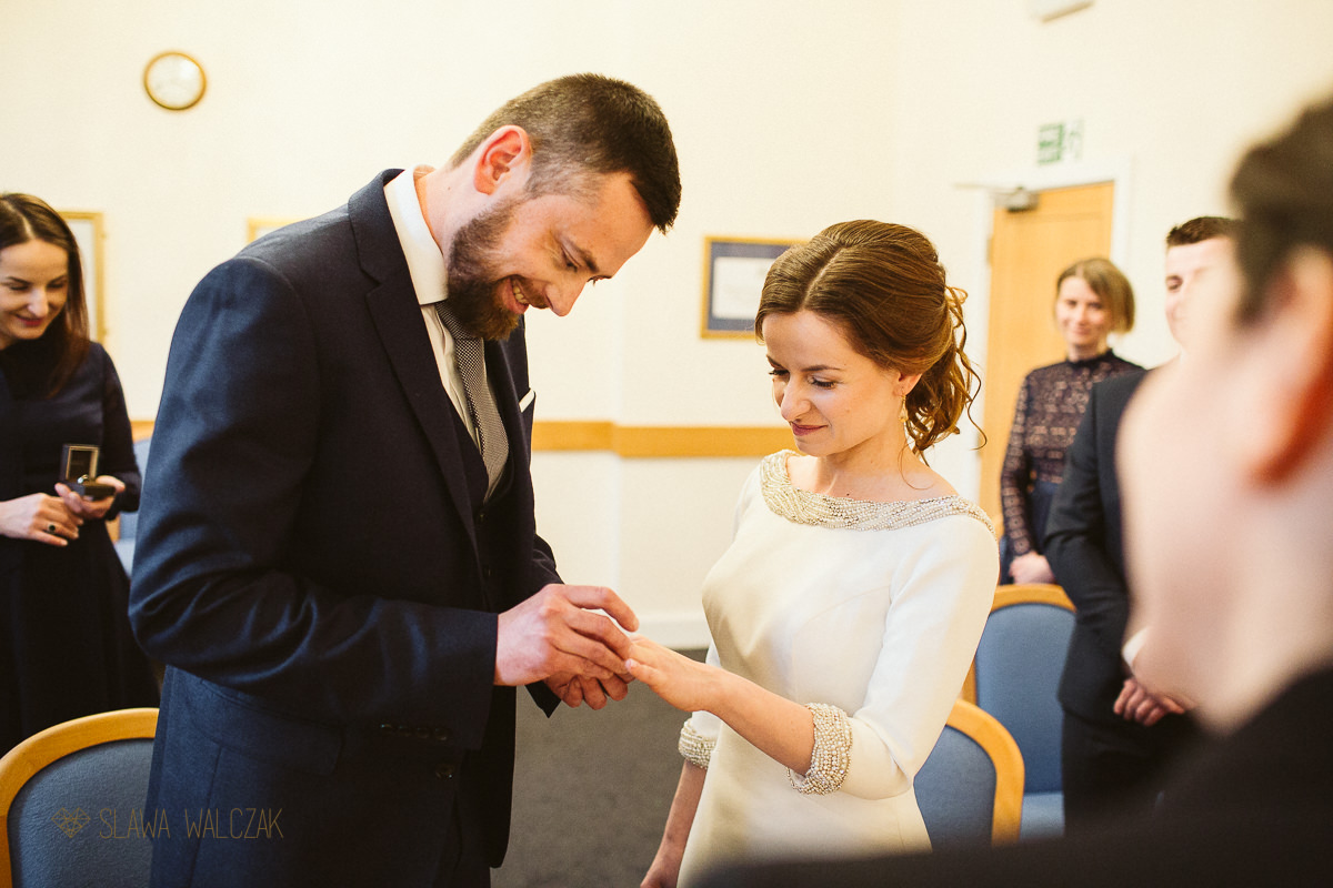 ring exchange at Baconsfield Registry office