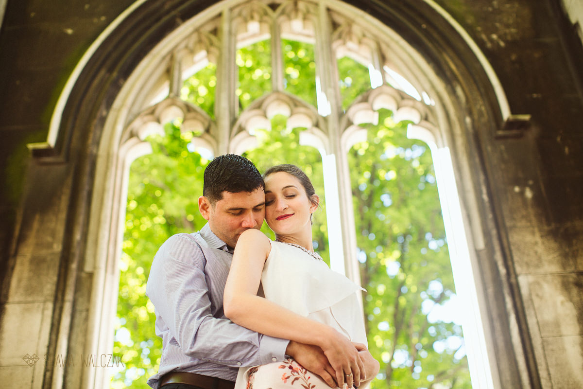 romantic and relaxed engagement photo session at St Dunstan in London
