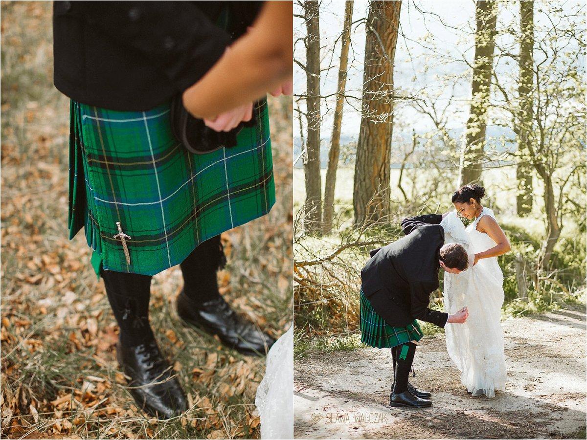 wedding kilt details