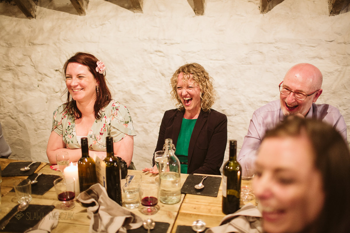 Speeches at Cockdurno Farm Wedding Photography Edinburgh Scotland