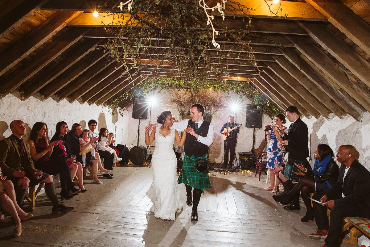 First dance photography at a Scottish wedding in Edinburgh