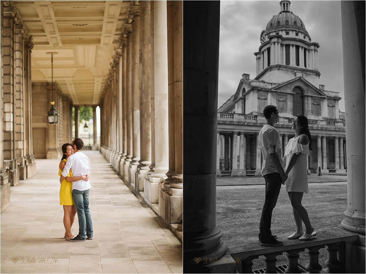 couple engagment photo shoot from Greenwich College in London