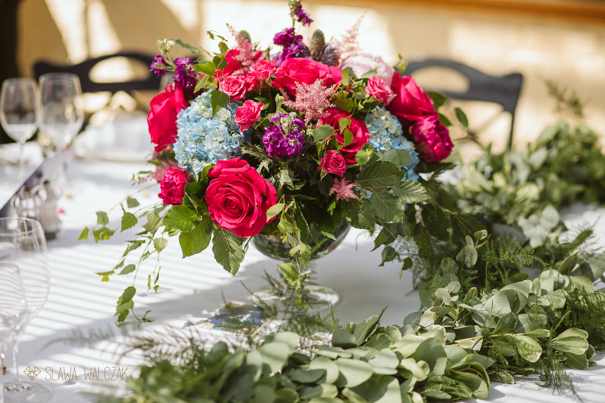floral table decor photos at a wedding in the Dairy in Waddesdon