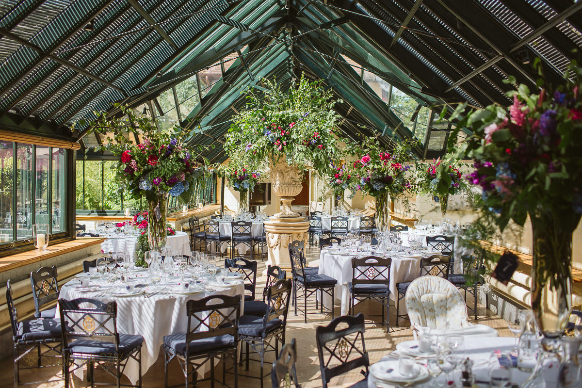 floral decor photos at a wedding in the Dairy in Waddesdon