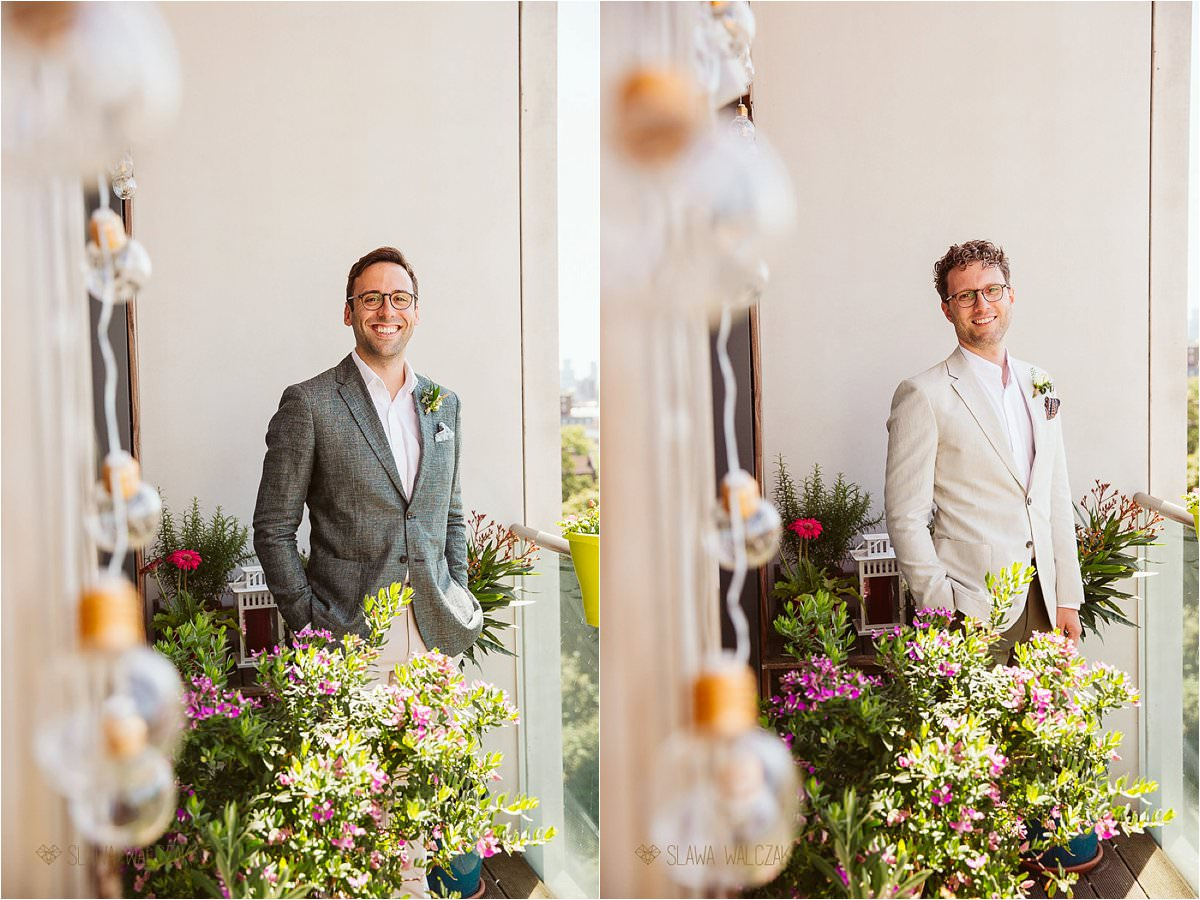 portraits of gay guys at ther London same sex wedding
