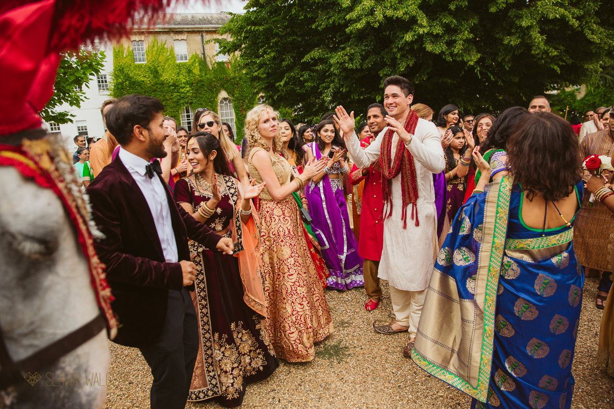 Indian Wedding Baraat at Beaumont Estate in Windsor