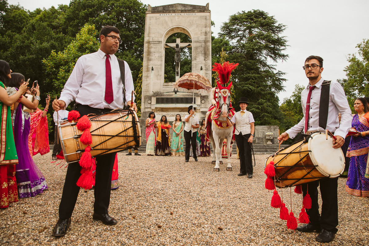 groom's baraat an a Hindu wedding in Windsor