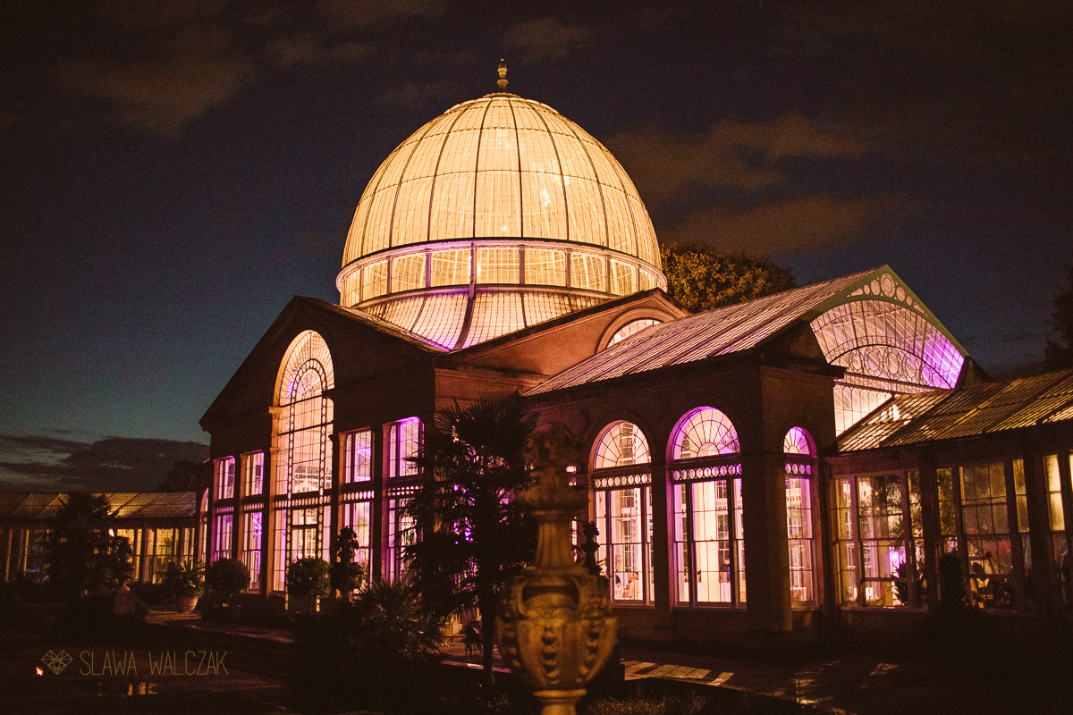 Syon Park Great Conservatory by night