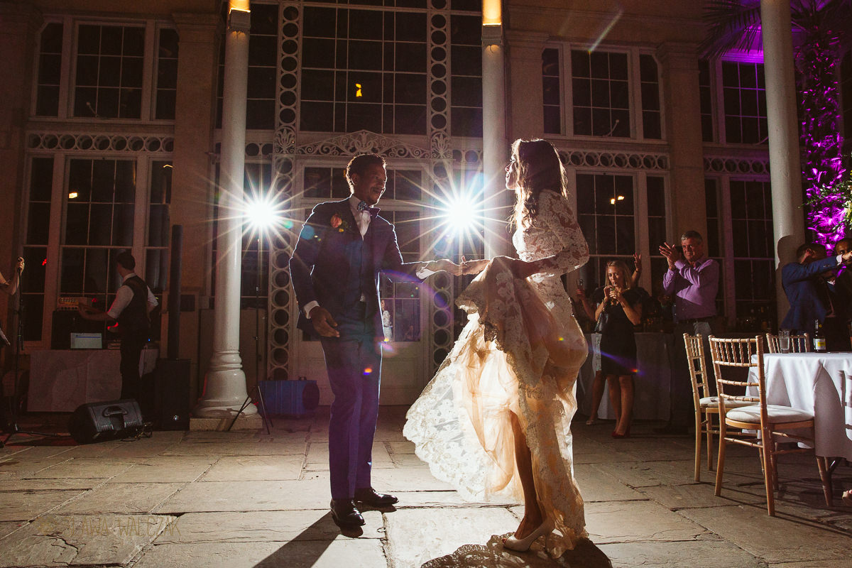 Wedding photography of a First Dance at Syon Park Conservatory