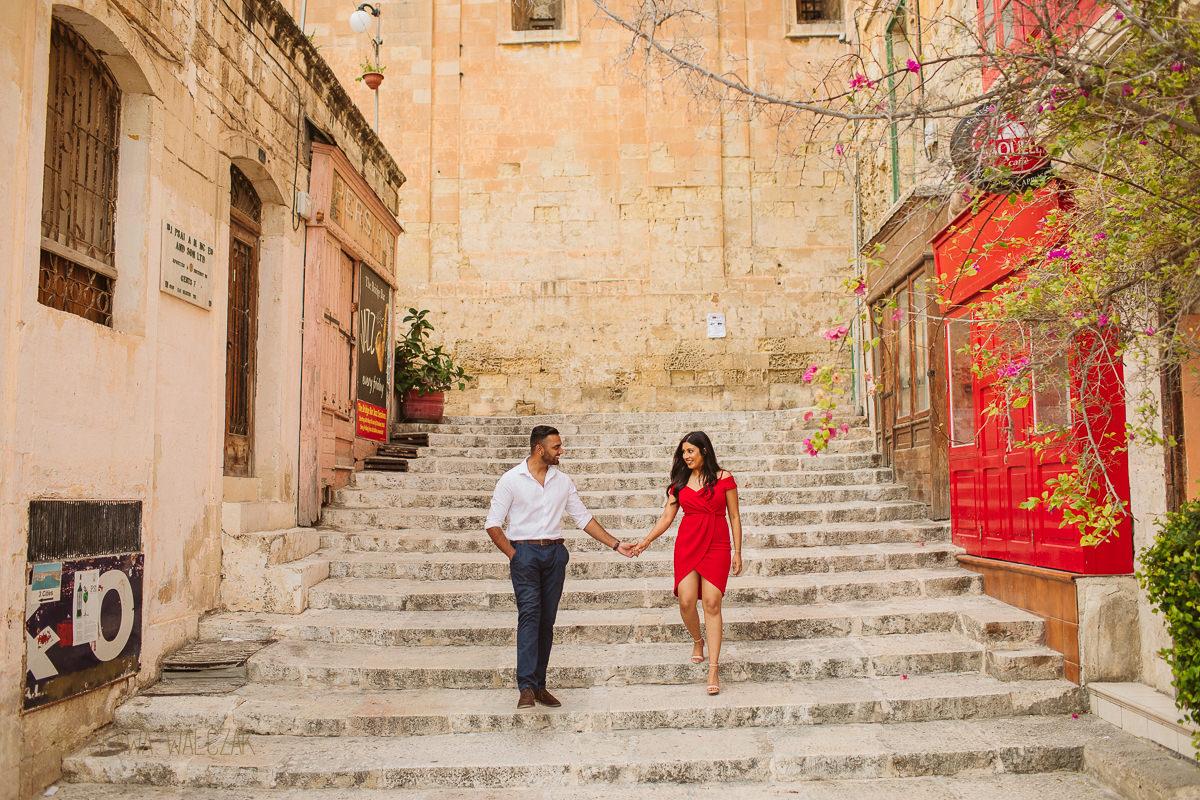 Destination engagement photos from Valletta Malta