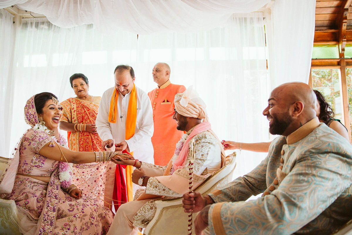 happy Indian couple at a Hindu Wedding in Malta