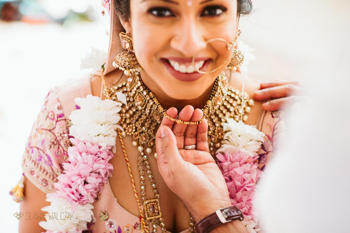 Asian Bride at an Indian Wedding in Castello Zammitello in Malta