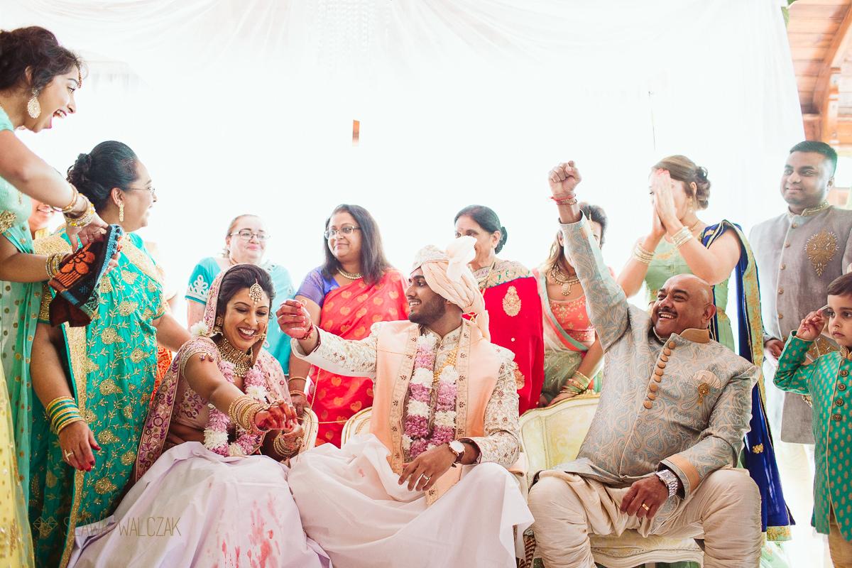 Hindu Wedding games at an Indian Destination wedding in Malta