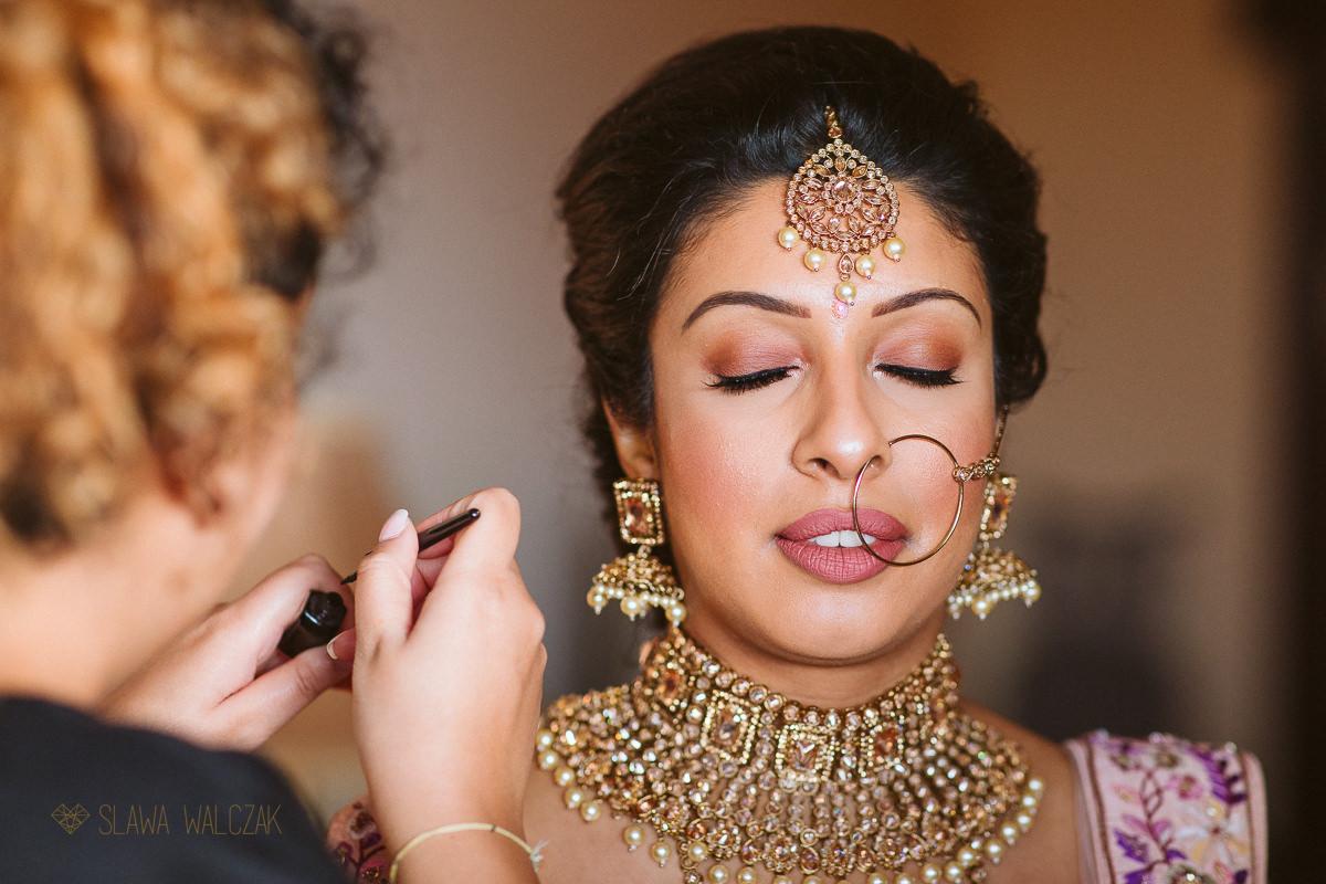 Indian Bride getting ready at a wedding in Malta