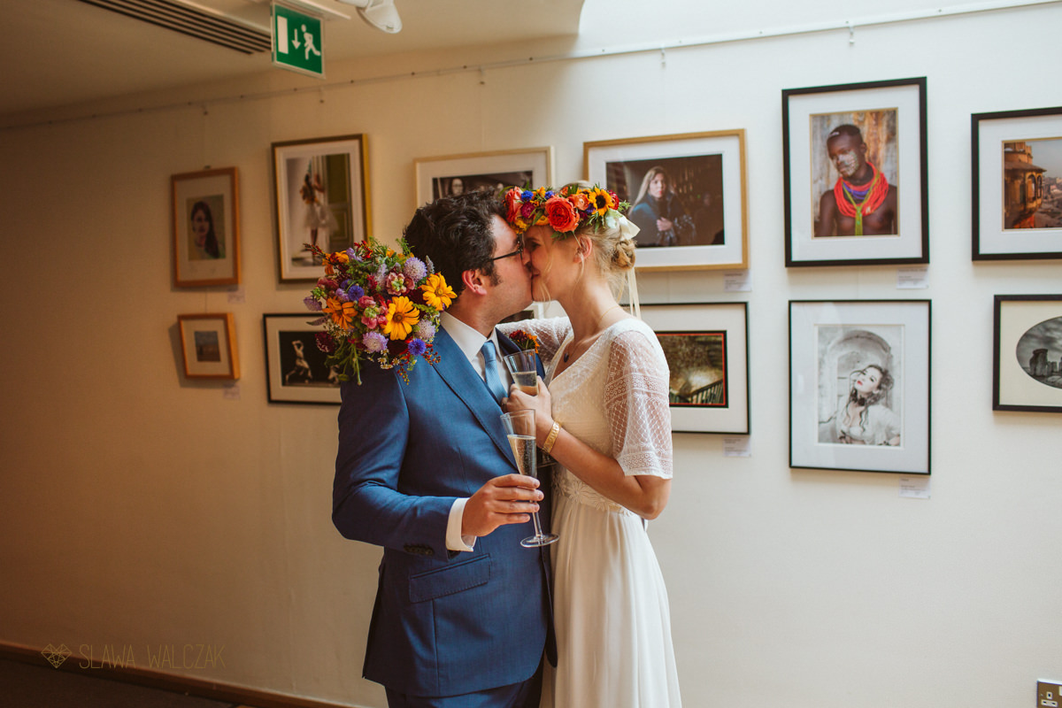 Wedding photography at a Burgh House in London