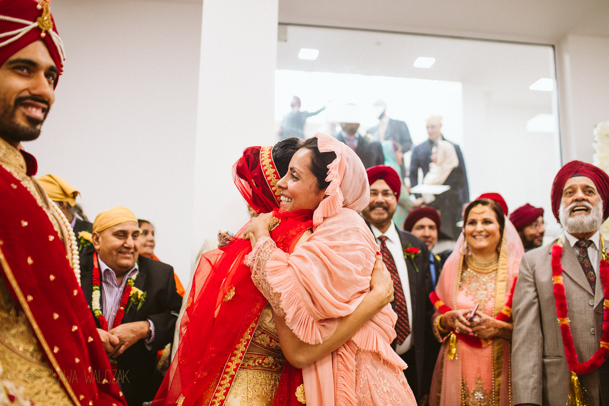 Milni at a Sikh Wedding in London Central Gurdwara