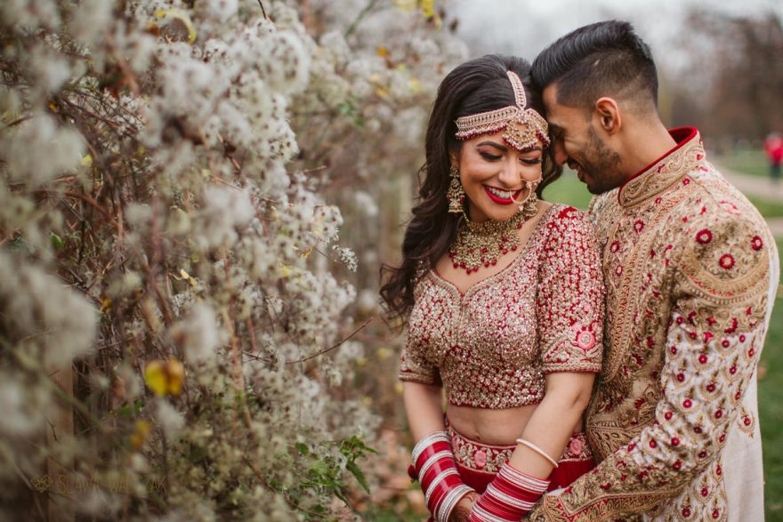 Asian couple Wedding portraits in London Park