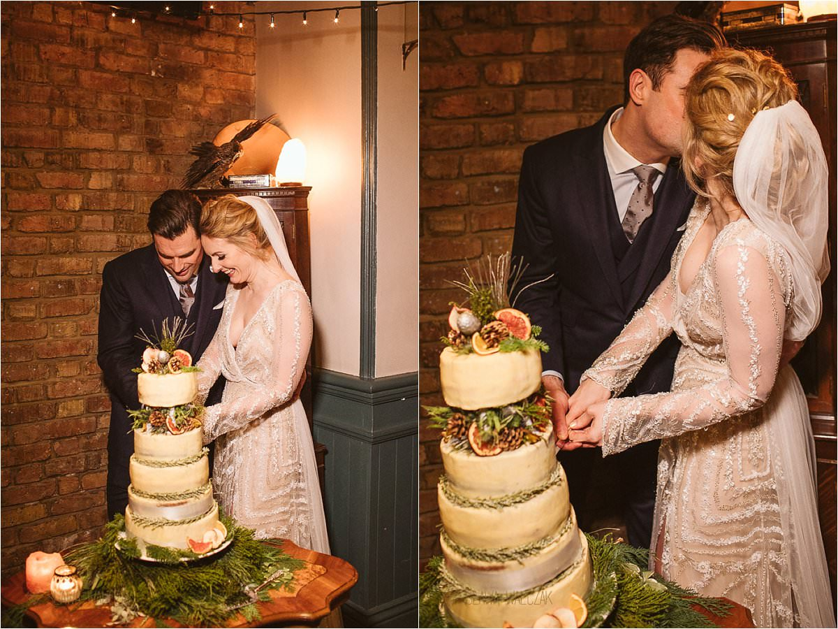 cake cutting at Fulham Library London Wedding Photography
