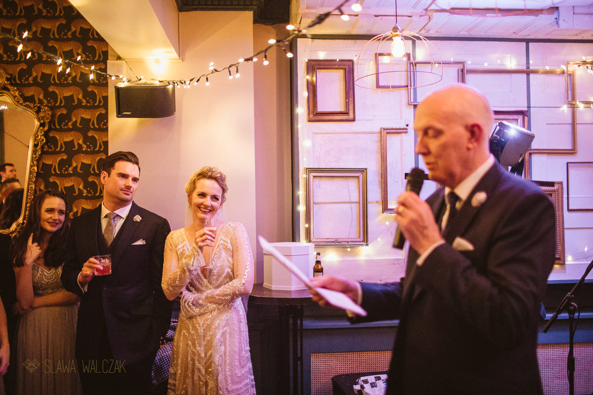 wedding speeches photos at Powder Keg Pub in London