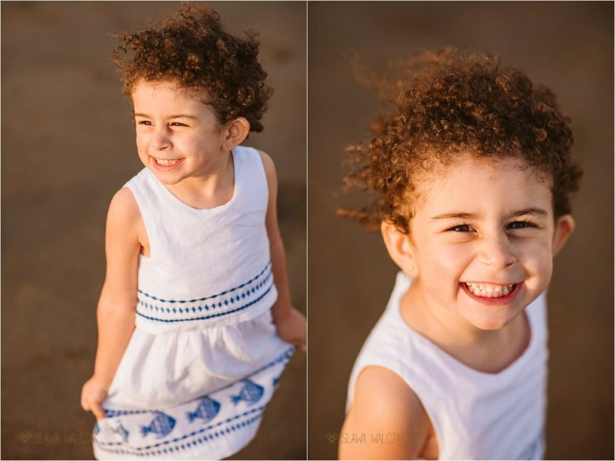 Fun relaxed family photos on the beach in Muscat Oman
