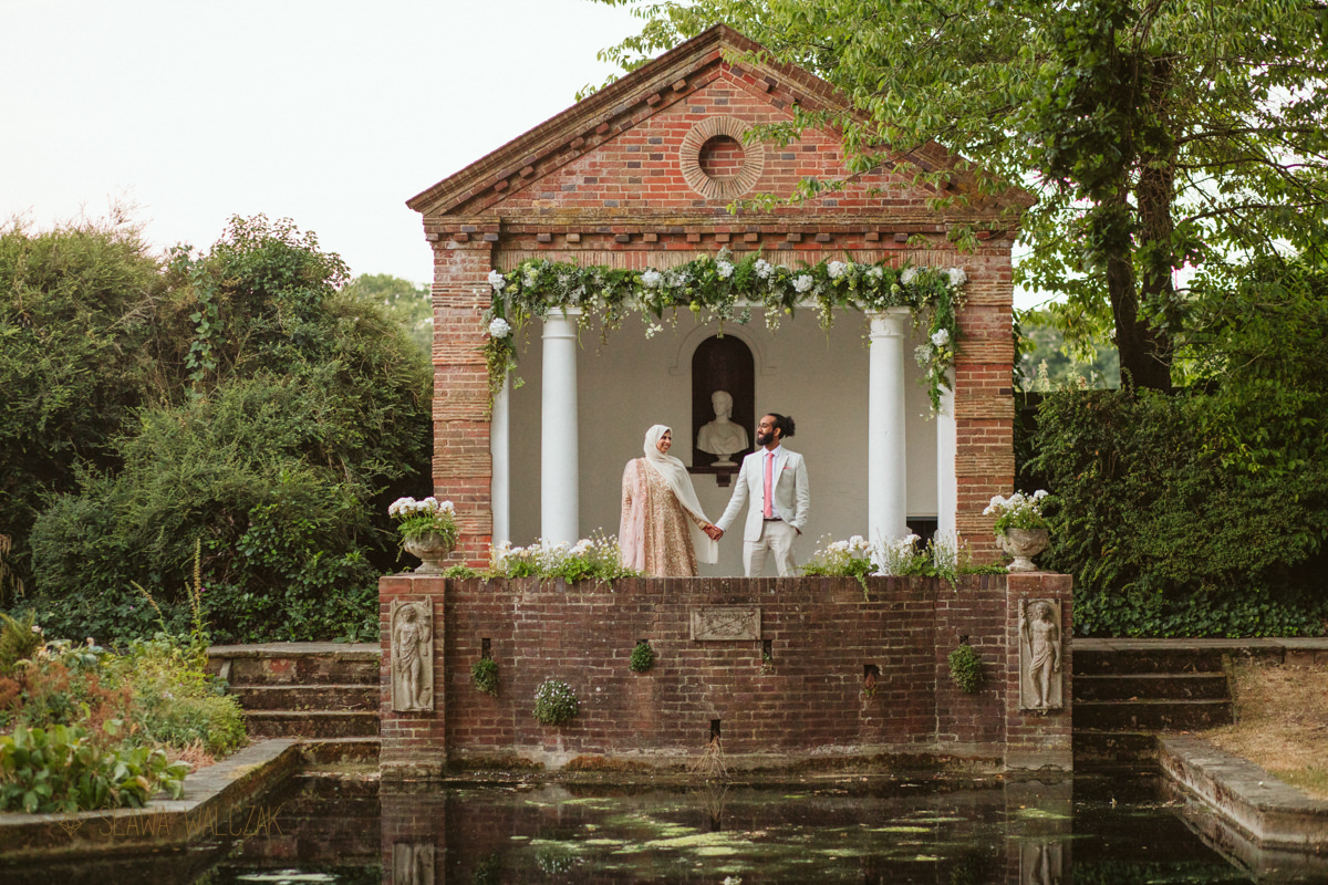 Asian couple photoshoot at the Gardens of Mickelfielh Hall Wedding Photography